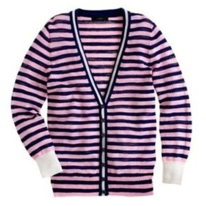 J CREW stripe gauze crêpe sheer Cardigan small  S